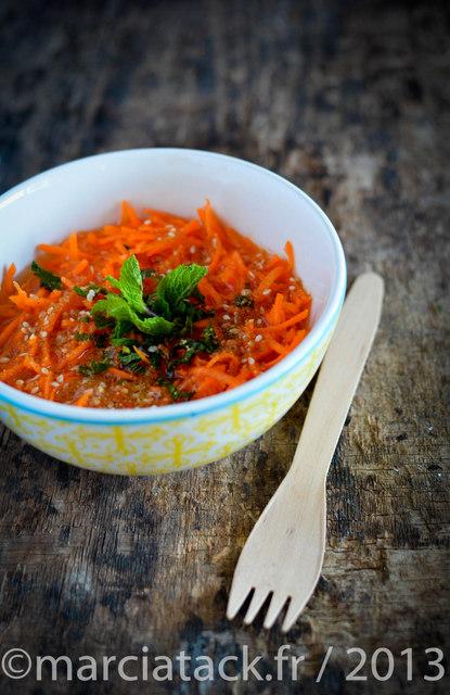 salade de carotte à l'orange