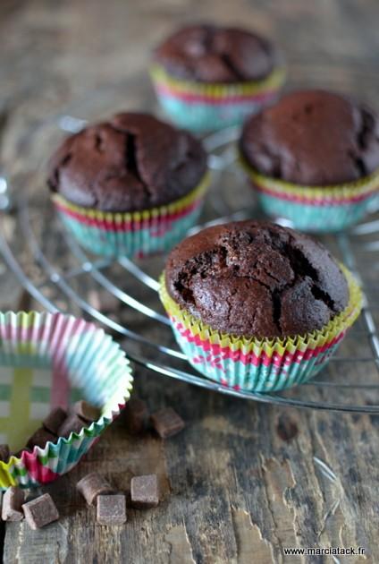 Recette de muffins au chocolat gonflés