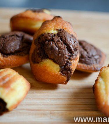 Recette de madeleines marbrées au chocolat