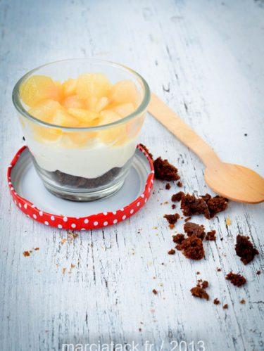 Recette de verrines poires fromage chocolat