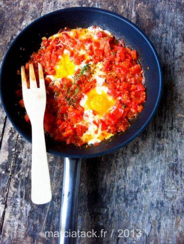 Recette des oeufs à la tomate