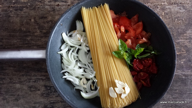 one pot pasta, recette de martha stewart