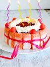 Recette de charlotte aux fraises - Gâteau d'anniversaire