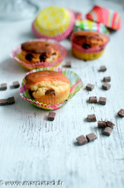 muffins rapide au pépites de chocolat