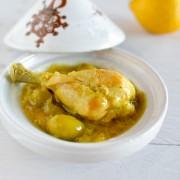 Recette de tajine de poulet au citron confit et olive