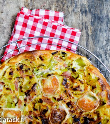 recette facile tarte aux poireaux