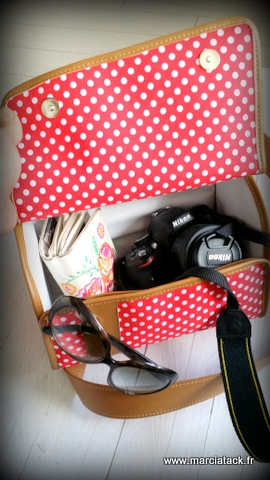 lunch bag transformé en sac à photo