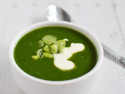 Recette de la soupe aux epinards frais