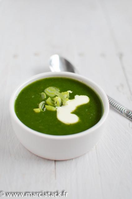 soupe epinards frais