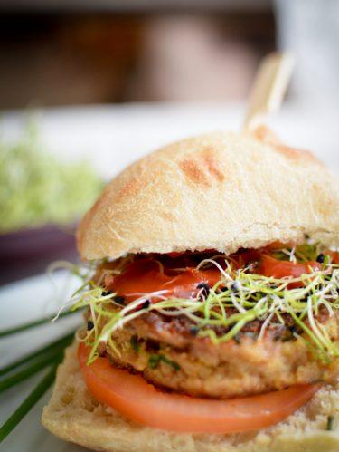 Recette burger au steack haché de thon fait maison