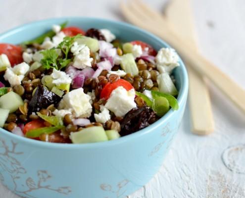 Recette salade de lentilles à la féta