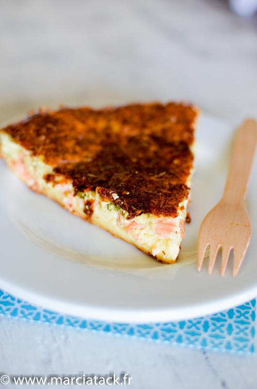 quiche sans pate au saumon et aux blettes