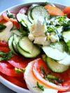 Recette facile de courgettes crues en salade