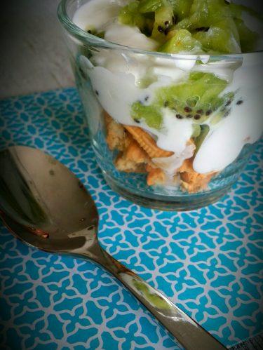 Recette dessert facile : trifle au kiwi