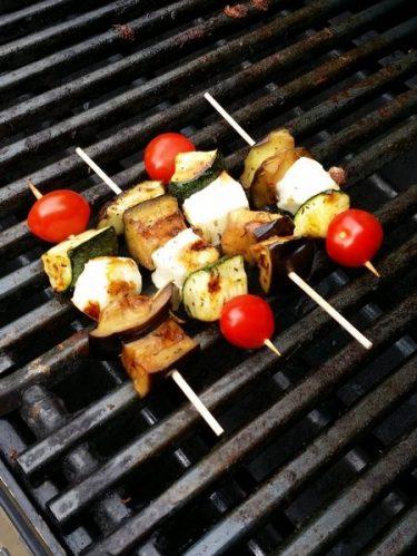 Recettes brochettes légumes grillis