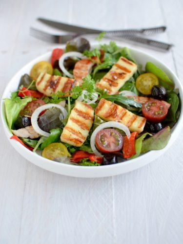 Recette salade légumes été et grillis halloumi