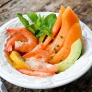 Recette salade de melon avocat crevettes