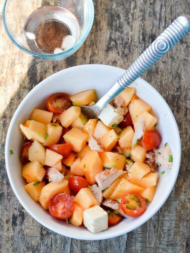 Recette salade de melon et apéricube