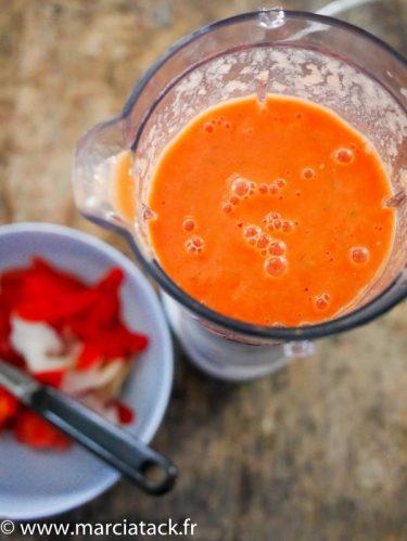 Recette du gaspacho de tomate