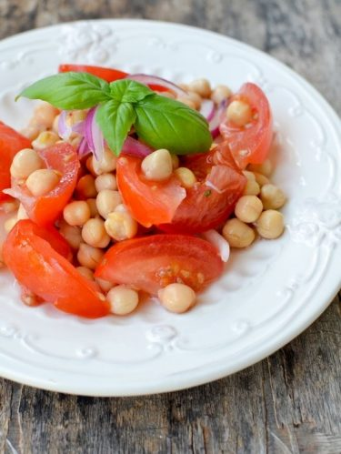 Recette de salade pois chiches et tomates