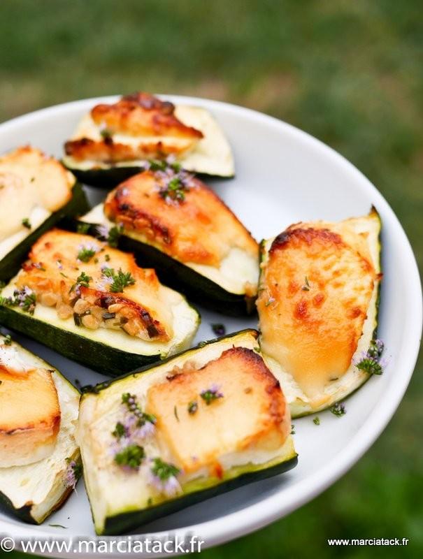 Courgettes ch vre et miel - Idees barbecue pas cher ...