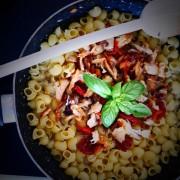 Recette de risotto de poulet aux pates