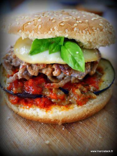 Recette de burger maison, l'italian burger