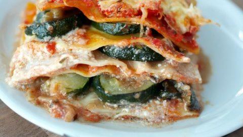 Recette de lasagnes aux légumes d'été : courgettes et tomates