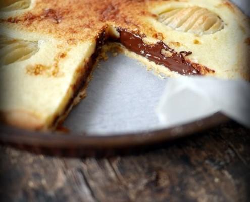 Recette de tarte poires chocolat