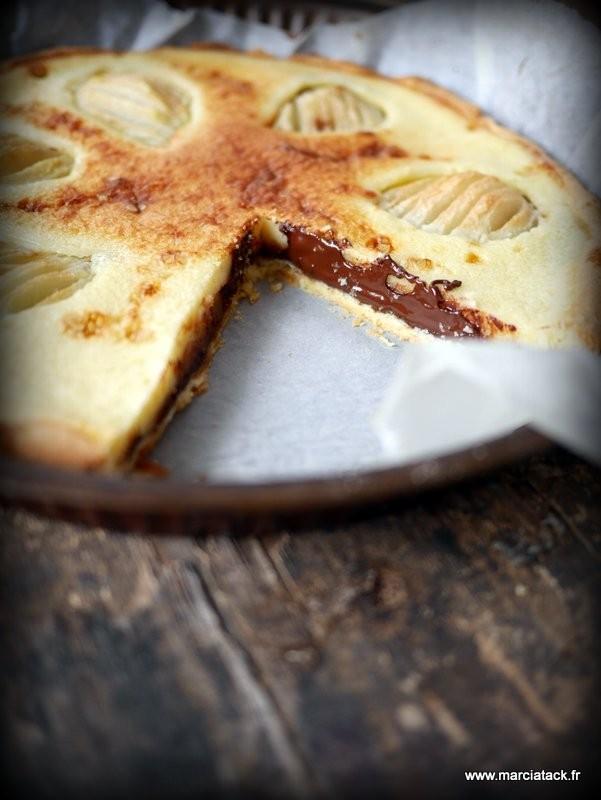 Tarte poires et chocolat for Astuce moucherons cuisine
