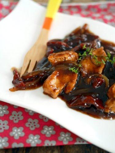 recette de poulet balsamique et miel