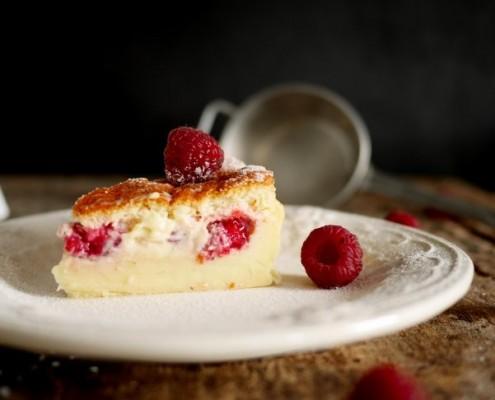 Recette du gâteau magique à la framboise