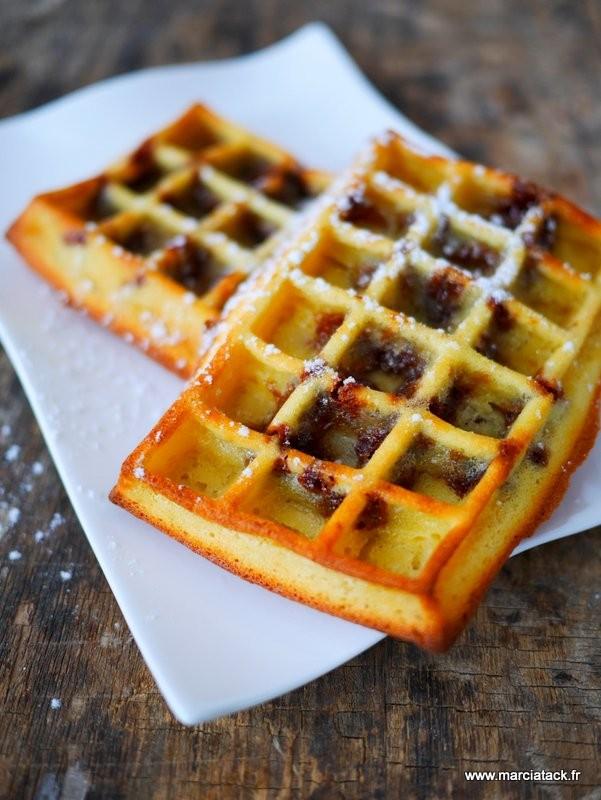 gaufres au four aux p 233 pites de chocolat recette tupperware