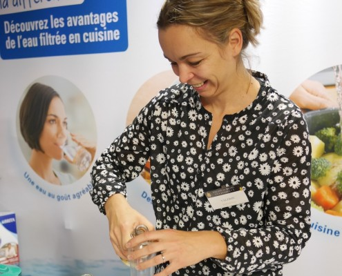Valérie Virorello Jamilli, du blog Marciatack.fr en démonstration culinaire