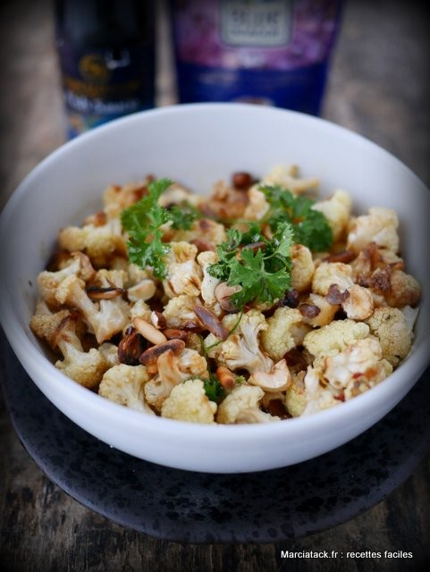 Salade de chou fleur rôti aux noisettes