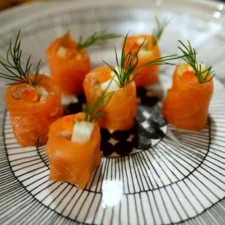 Recette de sushis de saumon au foie gras