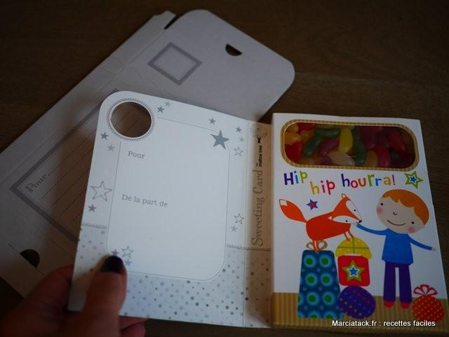 Carte d'anniversaire bonbons
