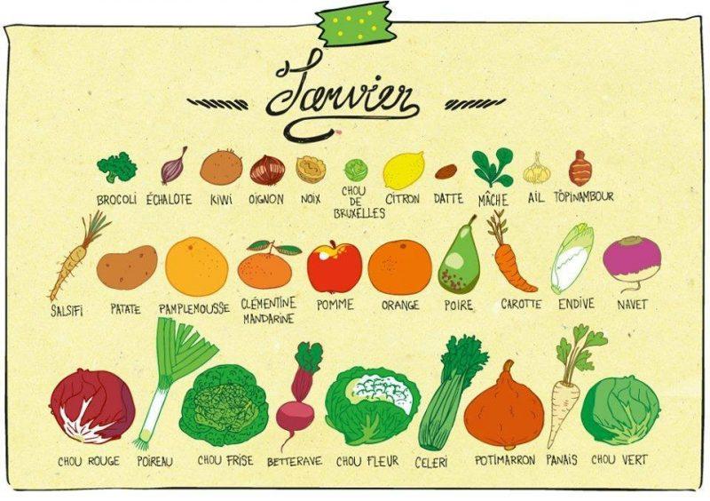 Recettes de saison : consommer les fruits et légumes de janvier