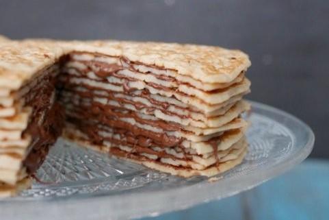 gateau de crepes au nutella