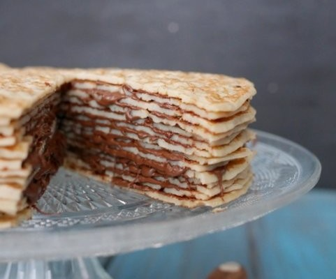 gateau de crepes au nutella