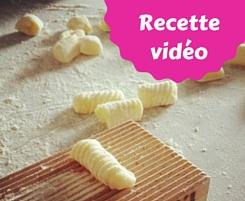 gnocchis de pommes de terre recette facile en vidéo, étapes expliquées