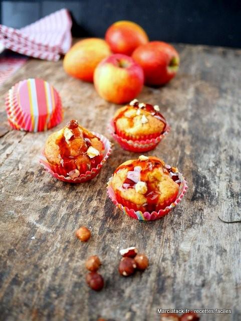 Muffins aux pommes et caramel