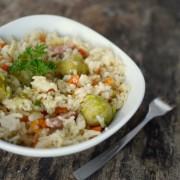 Recette facile du risotto aux choux bruxelles - brussel sprout