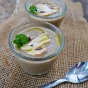 Recette rapide de soupe aux champignons de paris