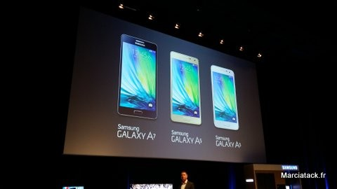 Nouvelle gamme smartphone Samsung