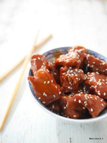 recette de poulet au miel soja