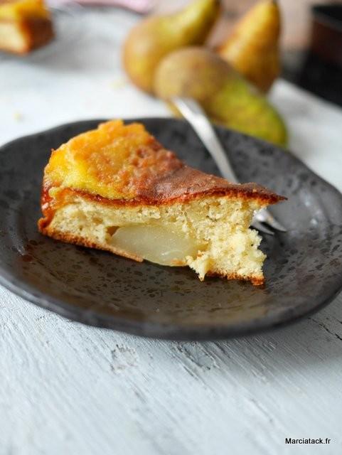 Gâteau aux poires trop gourmand