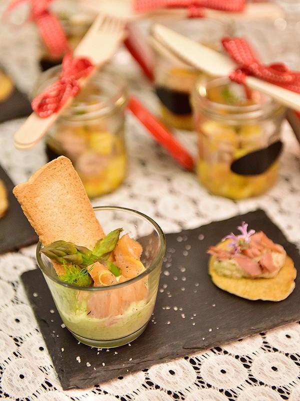 Mousse d'asperges et saumon
