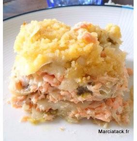 Crumble de parmesan, fenouil et saumon