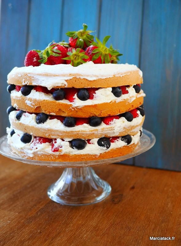 Layer cake fraises-chantilly